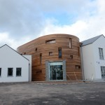 22nd April – Front of the building finished and tarmac down – starting landscaping soon!
