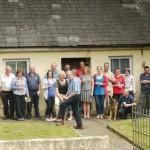 1st July: Sod turned on old cottage site.